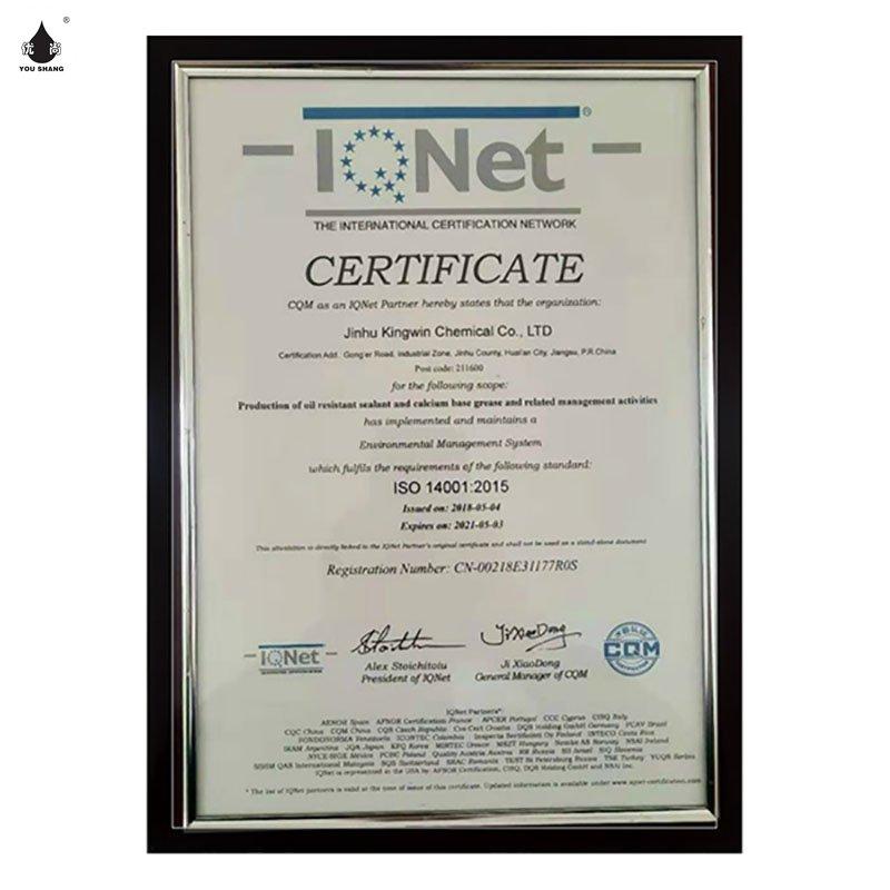 凯发凯发appISO14001国际认证联盟IQNet认证书